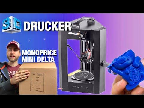 Monoprice Mini Delta - Plug And Play 3D Drucker UNBOXING, Einrichtung Und 1. Druck