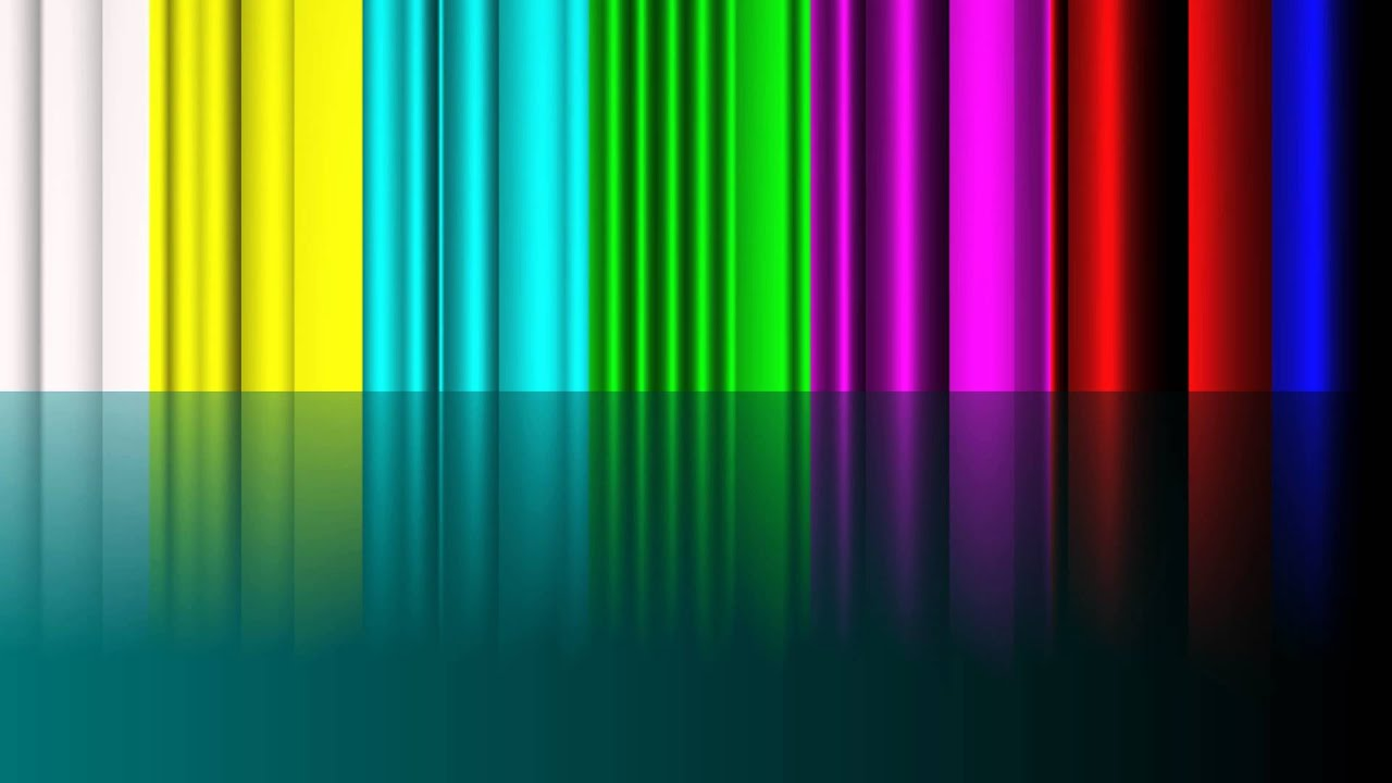 4k Tv 3d Color Bars Uhd Background Animation Video Youtube