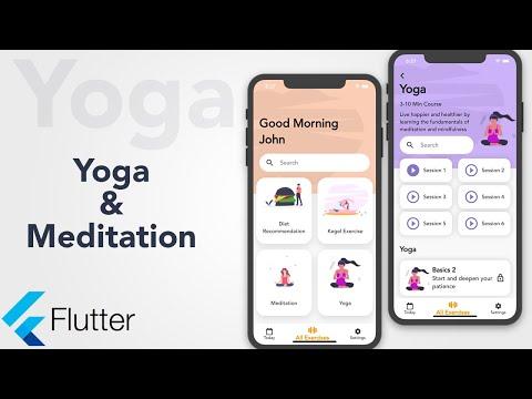 Flutter tutorial Yoga and Meditation app | Flutter UI speed code | Fitness app