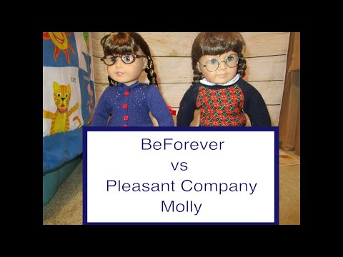 Comparing  Pleasant Company Historical Molly To American Girl BeForever Molly- Dolly Dreams Ep 436