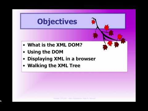 XML and the DOM