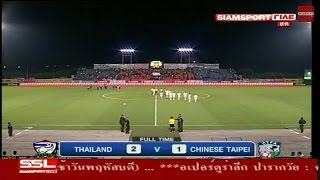All Goal Thailand U22  2-1  Chinese Taipei   2015