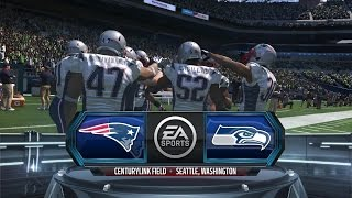nfl super bowl xlix new england patriots v seattle seahawks madden 15 prediction 1080p 60fps