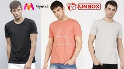 3 Best Solid Ether T-shirts 200/- each unboxing | Myntra