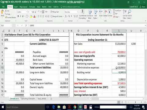 Small Business Finance:: preparing and using financial statements(part 2 income statement)