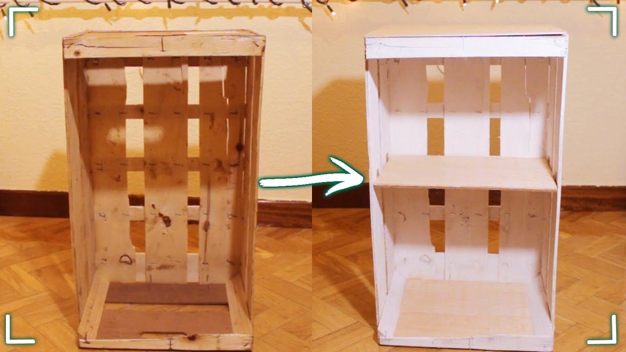 Haz un mueble con una caja de fruta diy youtube - Que poner encima de una comoda ...