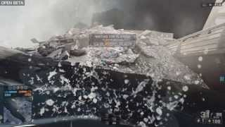 Battlefield 4 Beta building collapse 1080p HD ultra max settings PC
