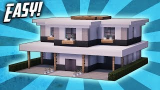 Minecraft: How To Build A Large Modern House Tutorial (#28)
