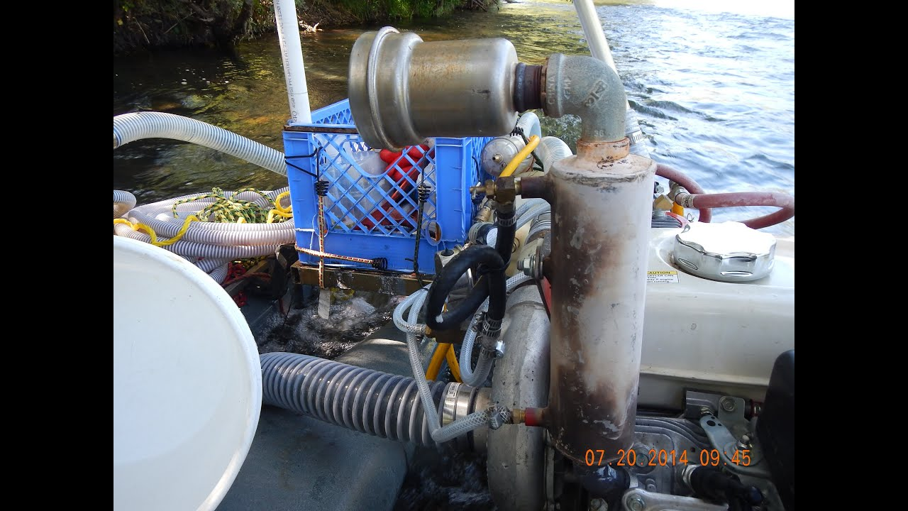 GOLD DREDGE WET SUIT HOT WATER SYSTEM ON MY KEENE 6