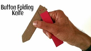 Pocket Button Folding Knife 🔪 with action - DIY Tutorial by Paper Folds.