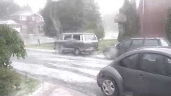 Hail Storm - Newmarket / East Gwillimbury August 1 2014