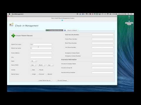 Health Record Management System using Java Swing