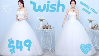 $49 WISH Wedding Dress Review *NO INTRO, NO TALKING*| heyimvicky