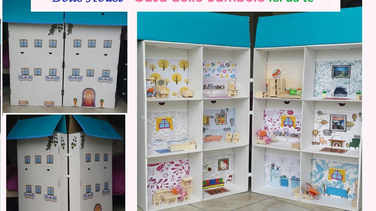 Casa delle bambole fai da te bimbi creativi 155 youtube for Casa di barbie youtube