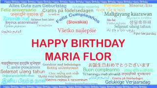 MariaFlor   Languages Idiomas - Happy Birthday
