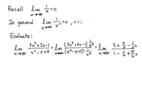 Limits involving infinity and derivatives