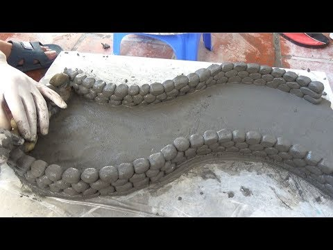 DIY - Creative Ideas With Cement - Super Beautiful Winding Fish Tank