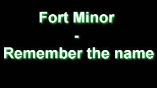 Fort Minor - Remember The Name [High Quality song with Lyrics!]