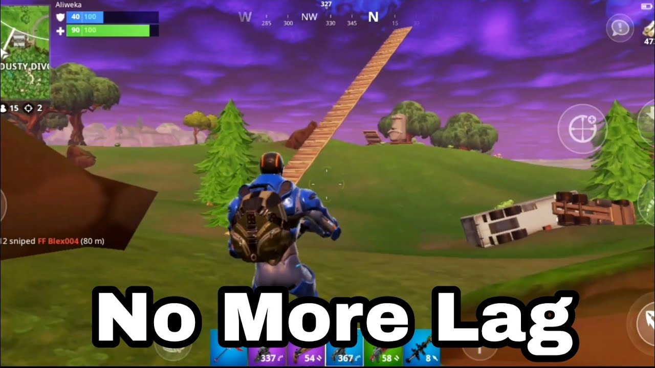 How to remove lag on fortnite mobile