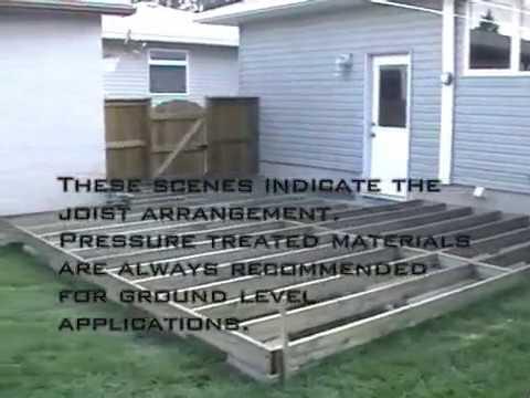 Ground Level Deck Youtube