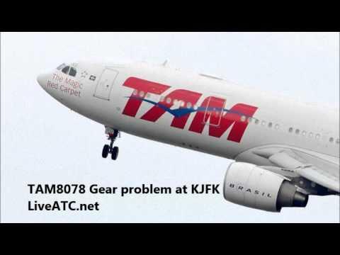 KJFK Nose Gear Steering Fault Precautionary Landing ATC Recording