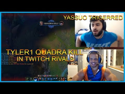 TYLER1 RECATS TO HIS QUADRAKILL / YASSUO TRIGGERED / SNEAKY TRIPLE TRAP / LOL MOMENTS