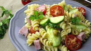 Как приготовить итальянский салат с овощами и пастой | Простой рецепт