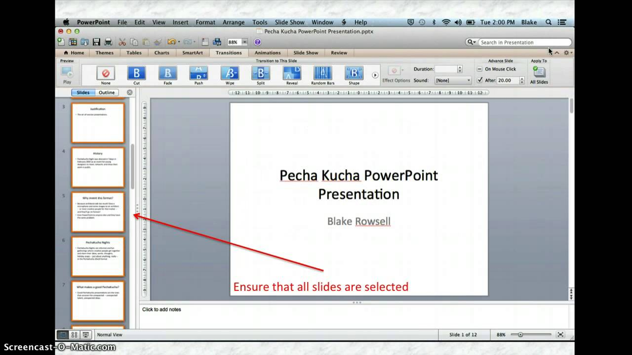 Pecha kucha powerpoint br youtube for Pecha kucha powerpoint template