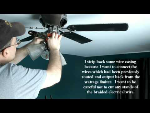 how to remove wattage limiters from new ceiling fans 7 14