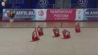 """Групповое выступление команды гимнасток """"Дюймовочки"""""""
