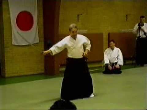 Shoji Nishio Aikido Toho Iai 05 Sayugiri Gyakuhanmi Shihonage