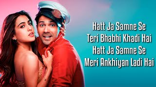 Teri Bhabhi (Lyrics) Coolie No.1| Varun Dhawan, Sara Ali Khan | Javed - Mohsin Ft. Dev N & Neha K