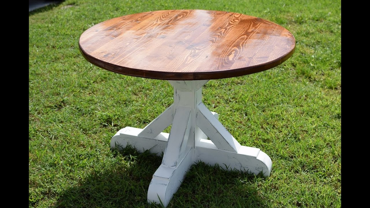 Round Farmhouse Dining Room Table