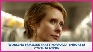 US BREAKING NEWS | Working Families Party formally endorses Cynthia Nixon