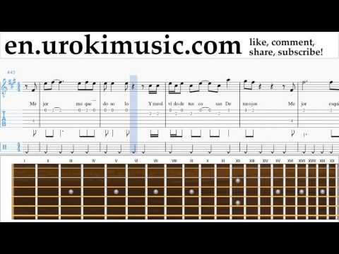 Guitar lessons Prince Royce & Shakira - Deja Vu Sheet Music Tutorial Part#2 um-hli352