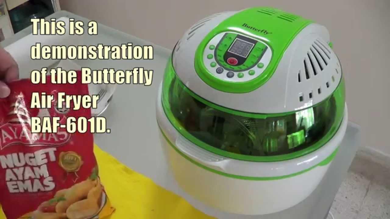 Butterfly Air Fryer Baf 601d Jat Demo Youtube