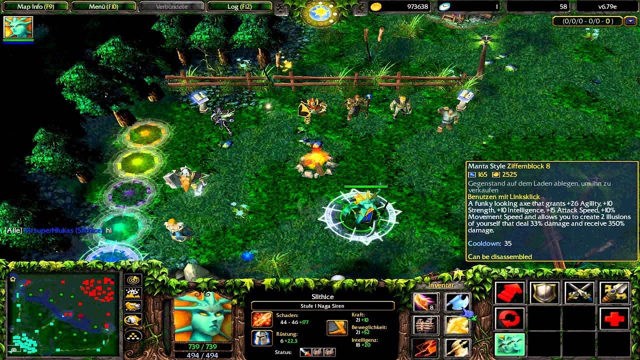 Warcraft 3 Dota Naga Siren YouTube