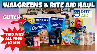 WALGREENS & RITE AID HAUL/GLITCH PRICING 😳/HUGE MM RITE AID TRANSACTIONS/ LEARN DRUGSTORE COUPONING