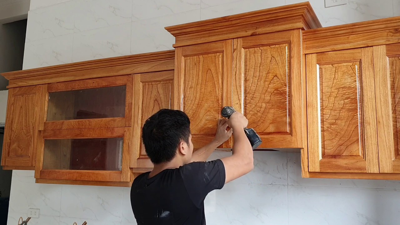 Mẫu tủ bếp nhỏ mà đẹp ( 0961238175) || Installing kitchen cabinets for small kitchen | woodworking