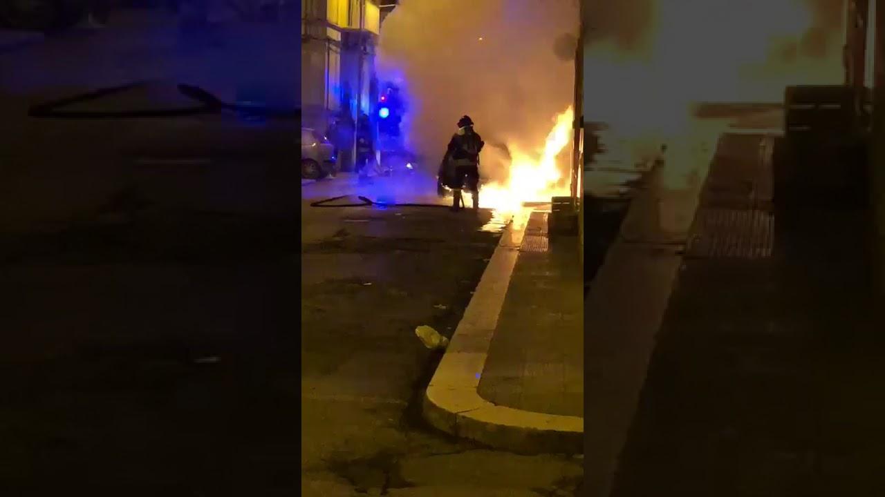 Molfetta. Incendio in via Manzoni