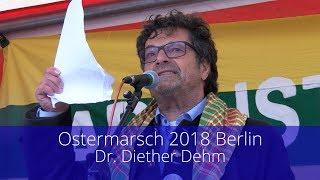 Dr. Diether Dehm auf dem Ostermarsch 2018 in Berlin