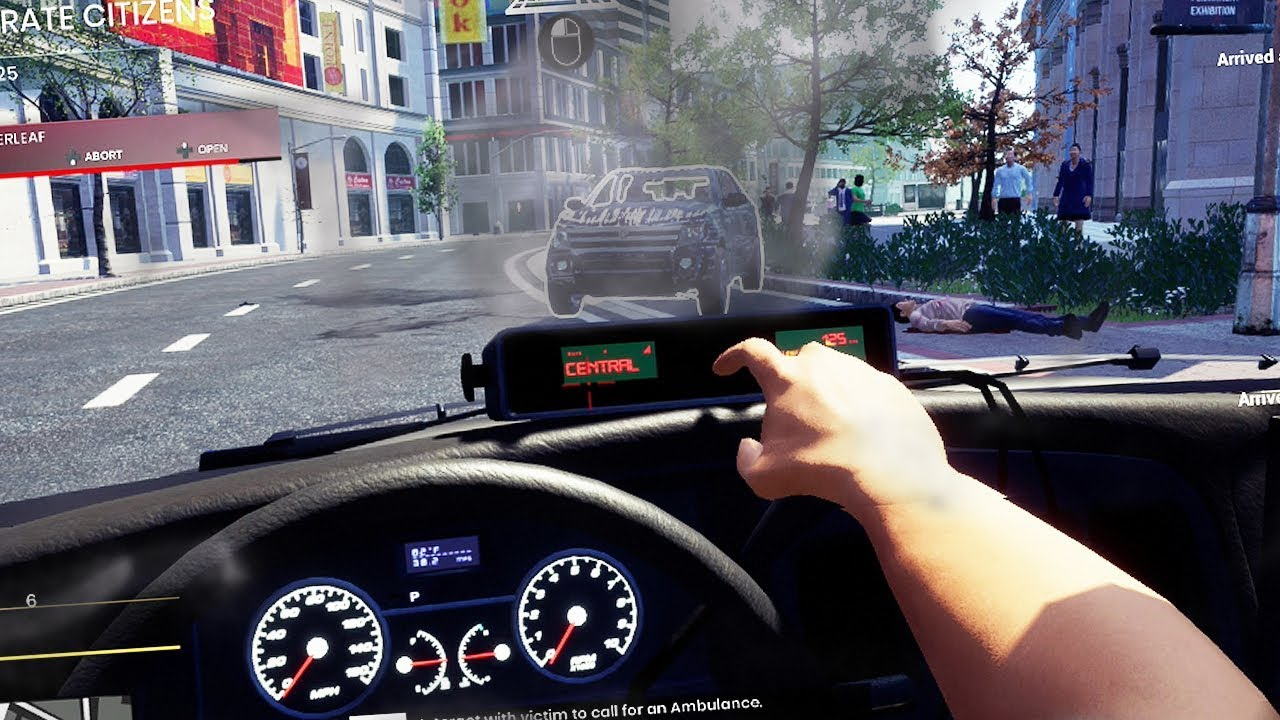 Burning Car in Cloverleaf (Police Simulator)