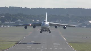 An-124 takeoff right above my head Farnborough 2016 airshow 4K video(Early morning 14th July 8.30am VolgaDnepr airline Monster Antonov An-124 REG RA-82081 is leaving Farnborough international airshow Destination St ..., 2016-07-17T18:00:00.000Z)