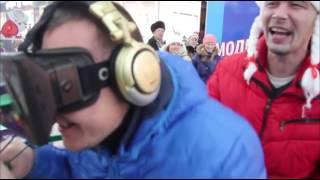 Прикол! Аттракцион Виртуальной Реальности в г. Чайковский ''МВР''  Дед мороз и виртуальная реальность