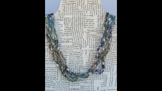 DIY Crochet Necklaces / How to make a crochet necklace/ DIY Scarf Necklace/ Crochet Ribbon Necklaces