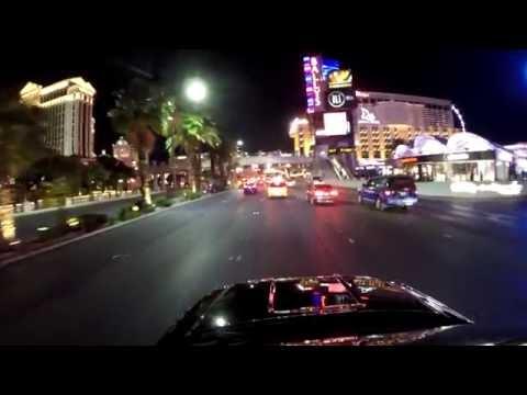 Night Drive Along The Las Vegas Strip