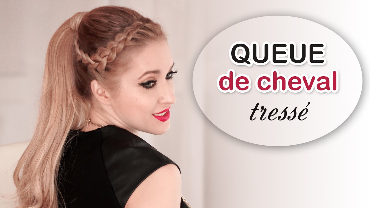 Queue de cheval avec extensions ? clips Tuto coiffure tress?e ...