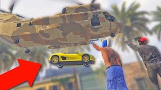 MOVING PEOPLE'S CARS ONTO ROOFTOPS! *HILARIOUS TROLLING!* | GTA 5 Funny Moments