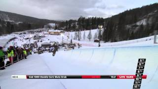Scotty James - Semi Final run at the Arctic Challenge Halfpipe 2013