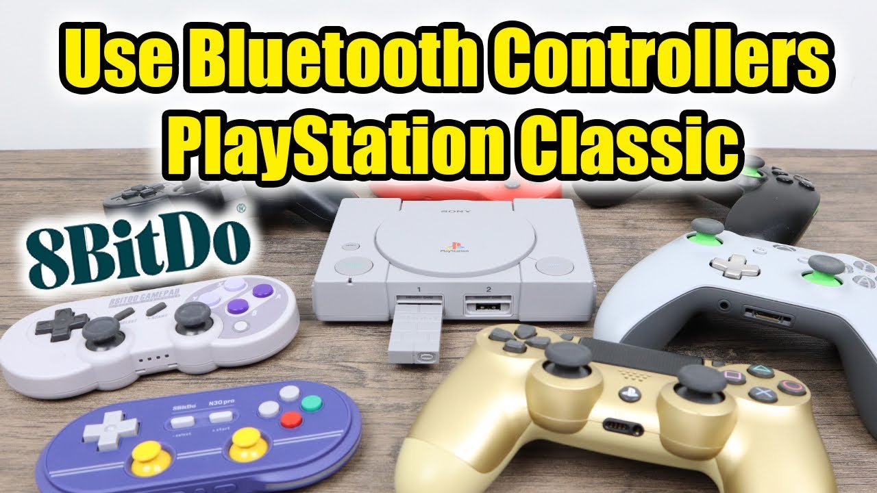 PlayStation Classic Use Wireless Controllers 8Bitdo Adapter Works With  Bleem Sync
